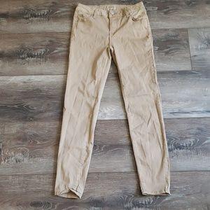 Celebrity pink tan skinny high waisted pants 7